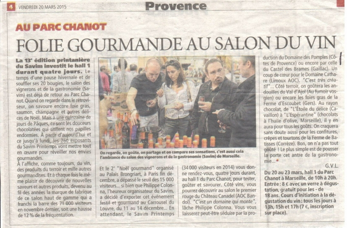 La Provence - March 2015